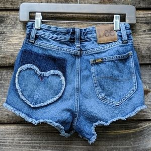 Lee High Waist Upcycled Distressed Heart Pocket